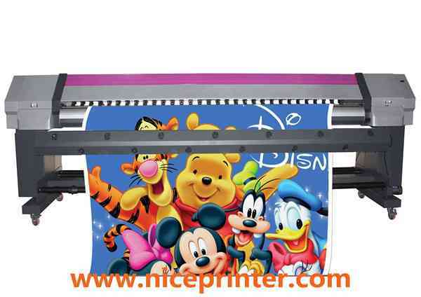 China Eco Solvent Printer 3.2m Dx7 with 1440dpi for Indoor Material, High Speed Printing Machine  for sale