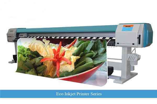 Cheap and fine 1.6m Vinyl ECO Solvent Large Format Printer with good printing effect for sale