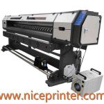 Hot selling 1.8m * 2 PCS DX7 1440DPI high resolution WER ES1802I, eco solvent printer for sale