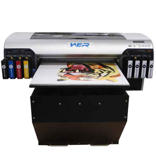 Best selling A3 WER-E2000UV inkjet uv flatbed printer for hard materials with 8 colors in uae